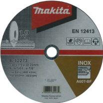 Disc abraziv pentru taiere otel inoxidabil MAKITA B-12273, 180mm